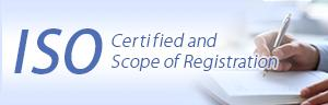 ISO14001/ISO9001 Certified and Scope of Registration